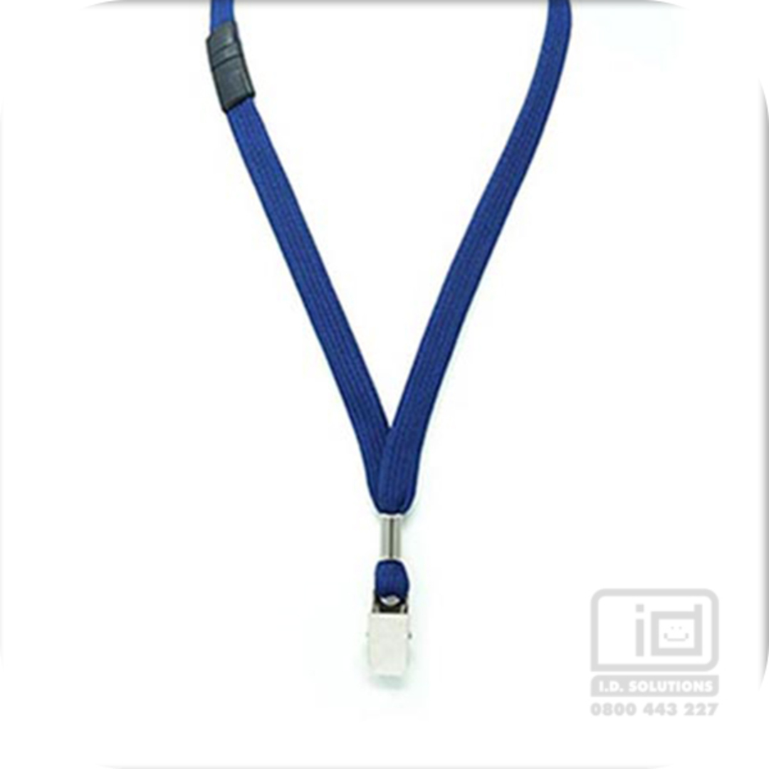 Navy Blue Tube Lan with BRKWY Bulldog Clip - 12mm wide image 0