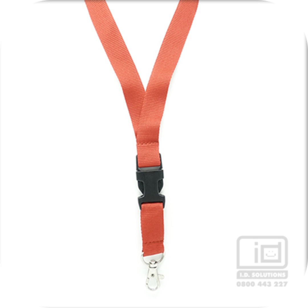 Red Flat Lan with Quick Release Buckle C-Hook - 20mm wide image 0