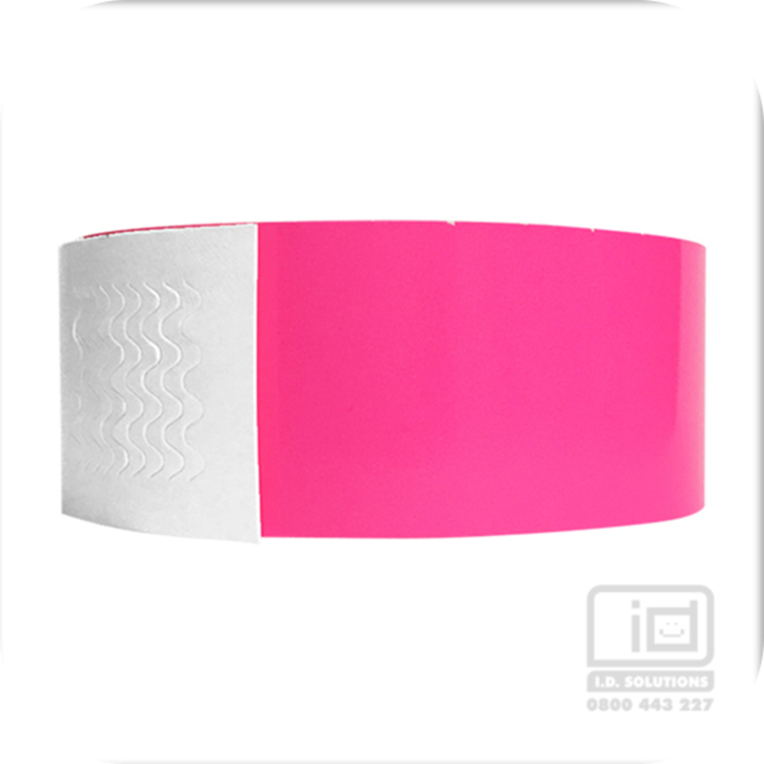 Biodegradeable Wristbands Neon Pink image 0