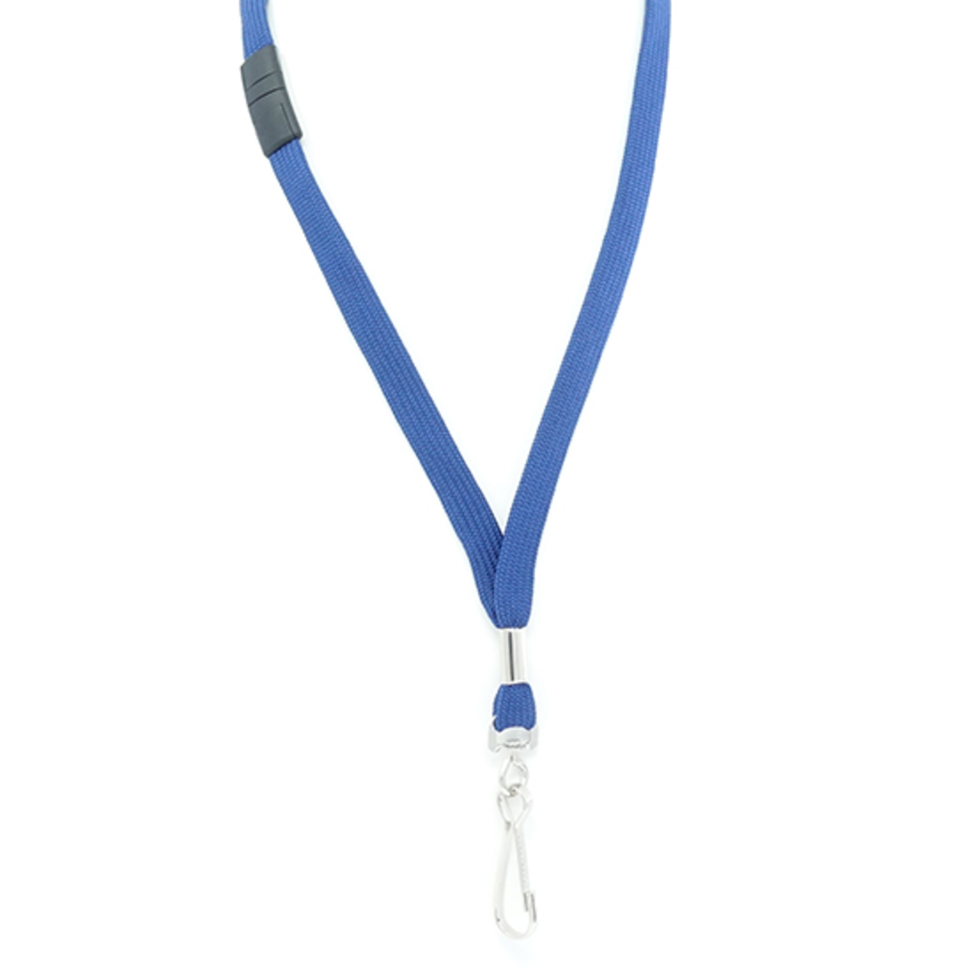 Navy Blue Tube Lan with BRKWY Swivel Hook - 12mm wide image 1