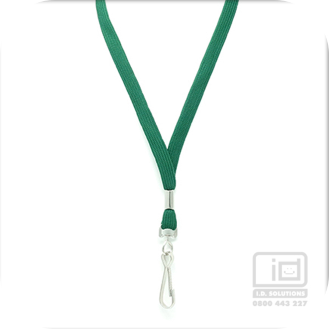 Green Tube Lan with Swivel Hook - 12mm wide image 0