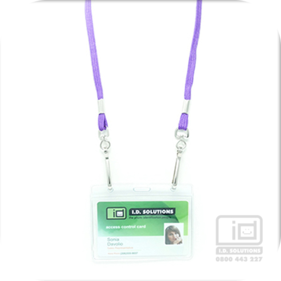 Purple Tube Lan with 2 Swivel Hooks - 8mm wide image 0