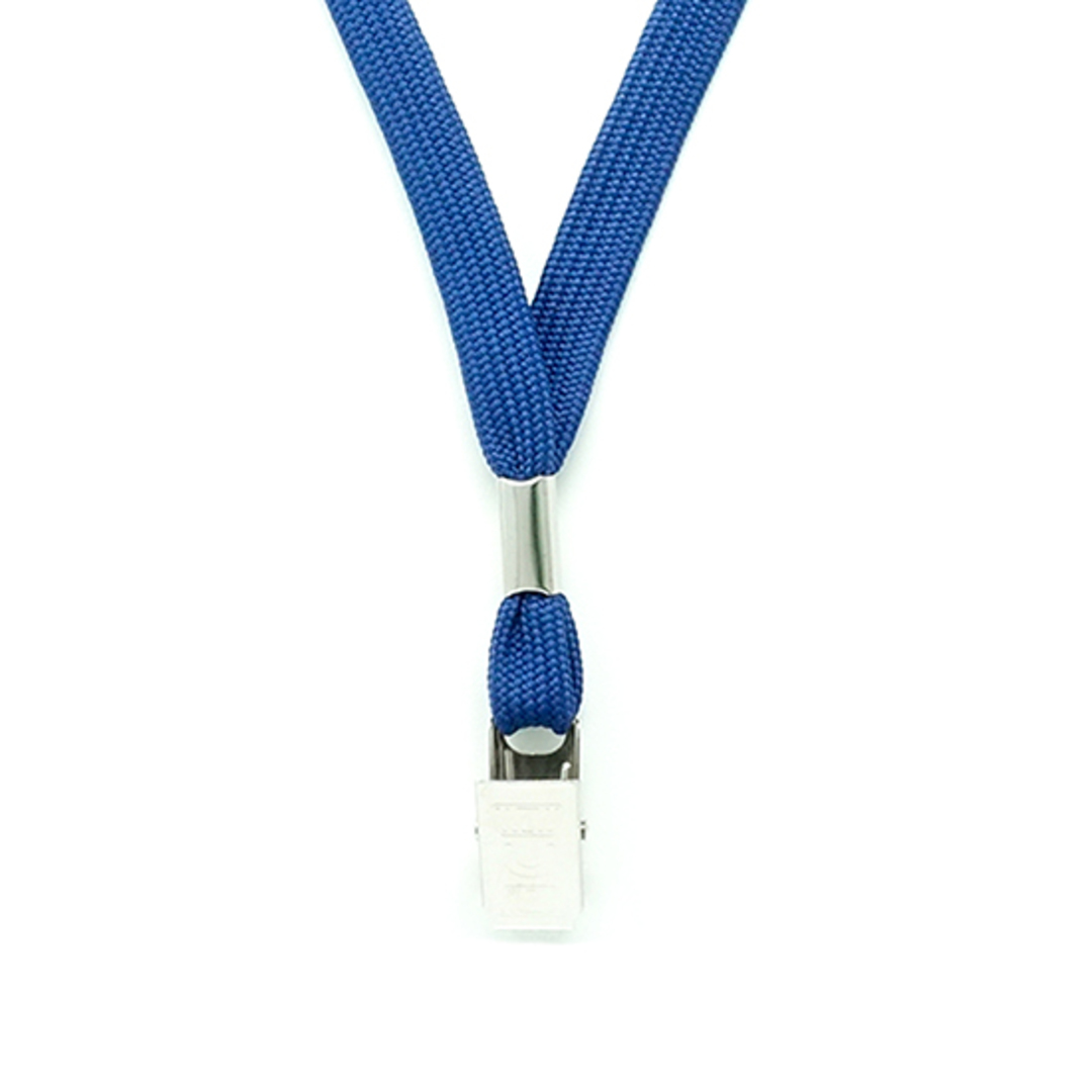 Navy Blue Tube Lan with Bulldog Clip - 12mm wide image 1
