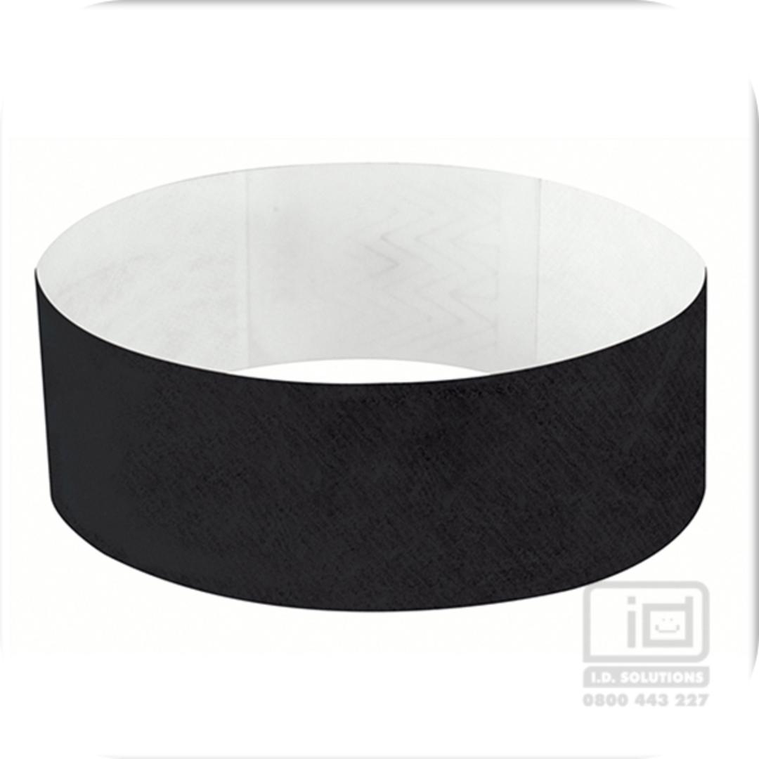 25 mm Tyvek wristband Black image 0