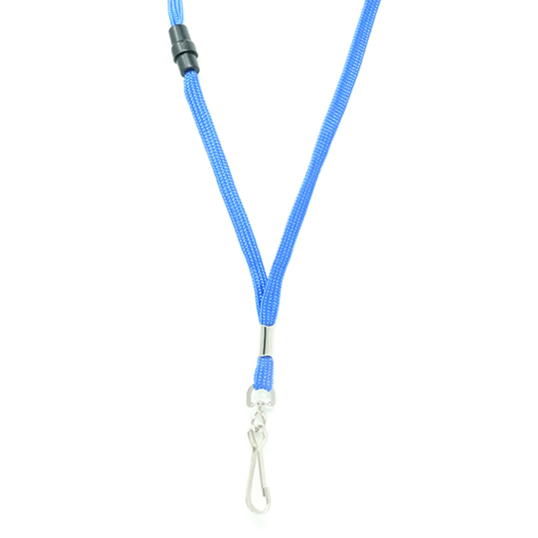Royal Blue Tube Lan with BRKWY Swivel Hook - 8mm wide image 1
