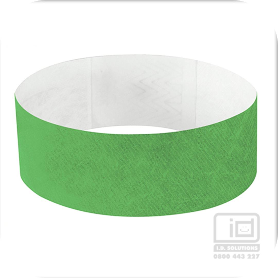 25mm Tyvek Wristband Green (plain) image 0