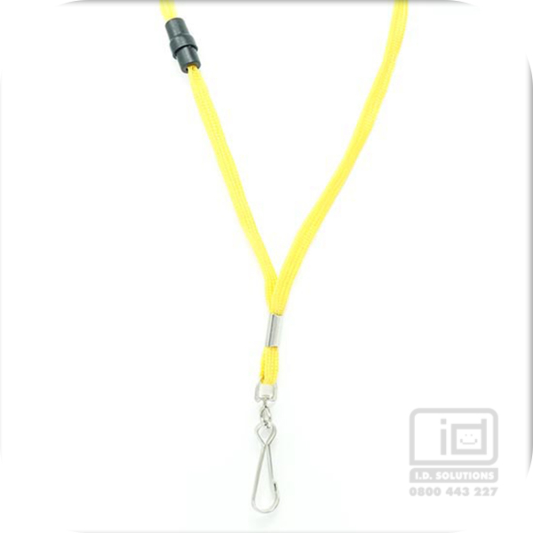 Yellow Tube Lan with BRKWY Swivel Hook - 8mm wide image 0