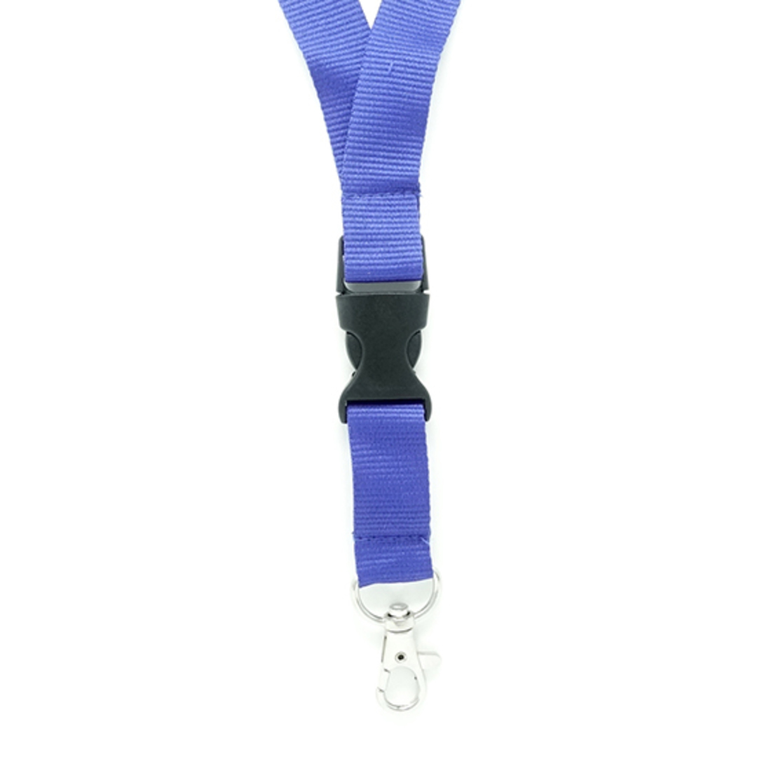 Royal Blue Flat Lan with Quick Release Buckle C-Hook - 20mm wide image 1