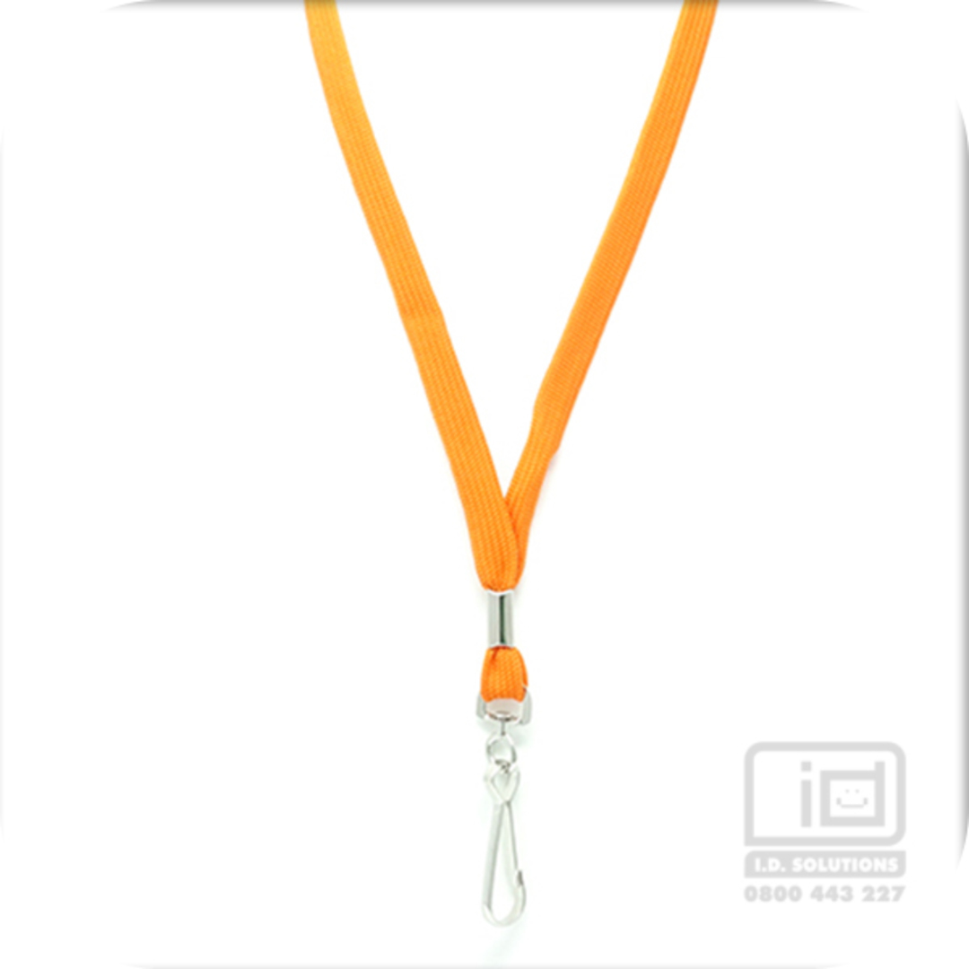 Orange Tube Lan with Swivel Hook - 12mm wide image 0