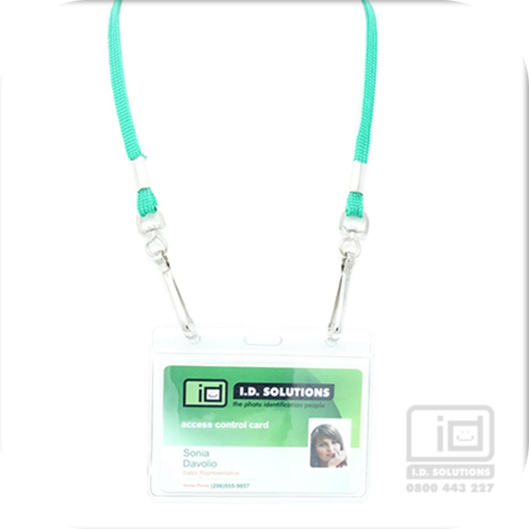 Kelly Green Tube Lan with 2 Swivel Hooks - 8mm wide image 0