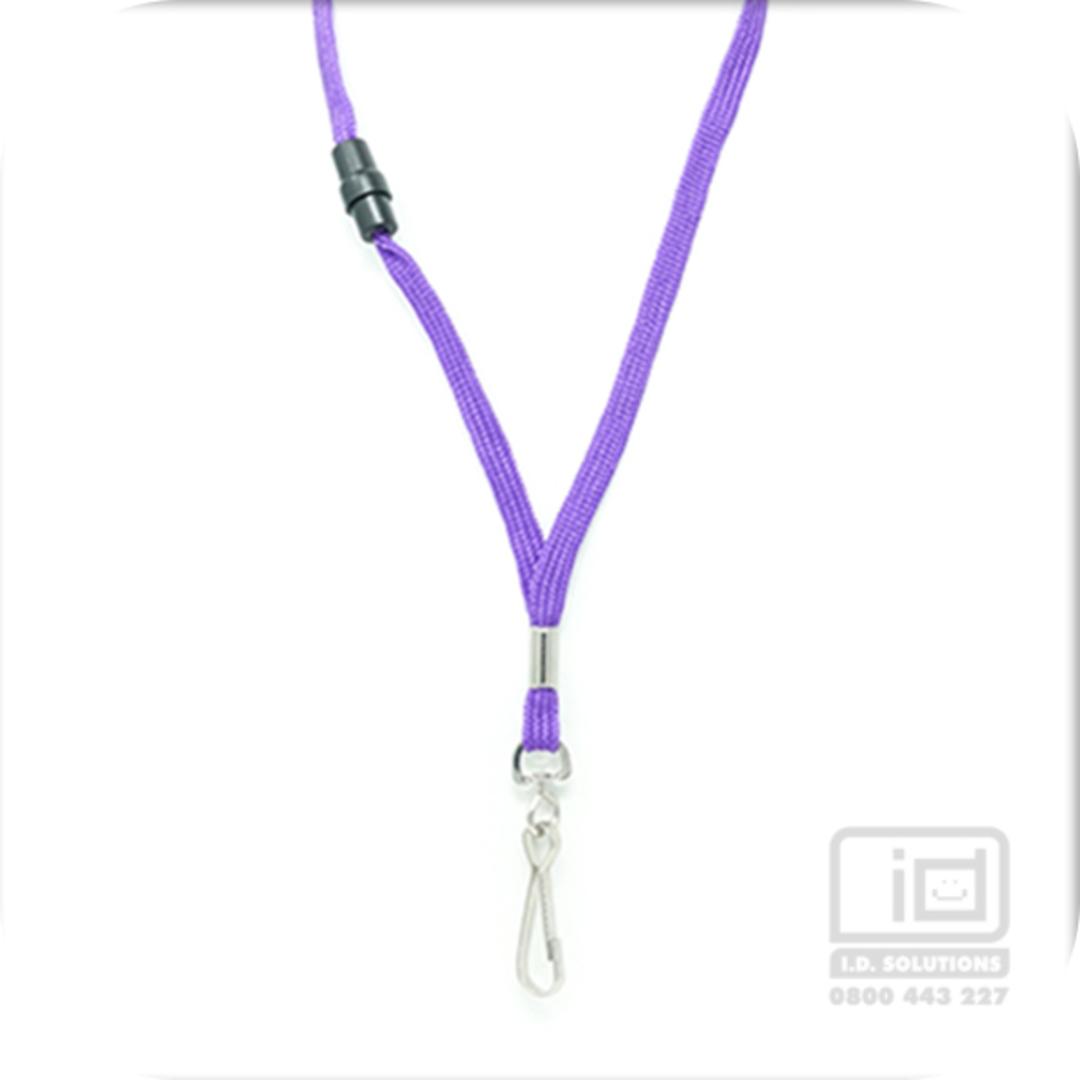 Purple Tube Lan with BRKWY Swivel Hook - 8mm wide image 0