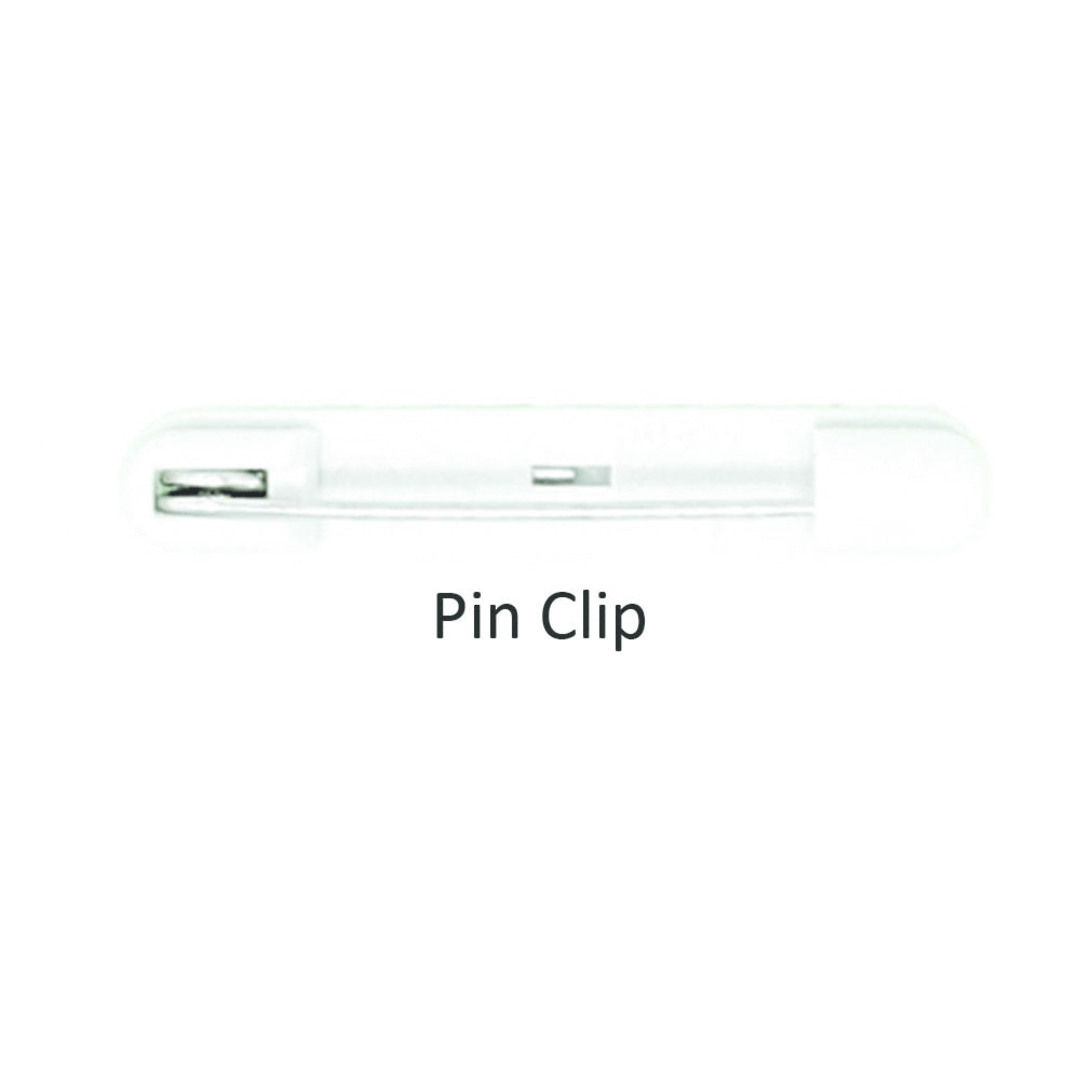 PVC Name Badge with Pin Clip image 1
