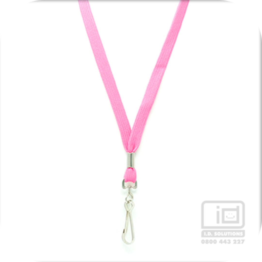 Pink Tube Lan with Swivel Hook - 12mm wide image 0