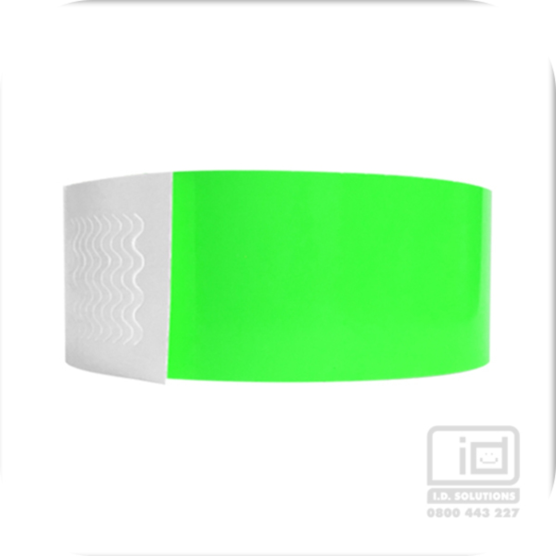Biodegradeable Wristbands Neon Lime image 0