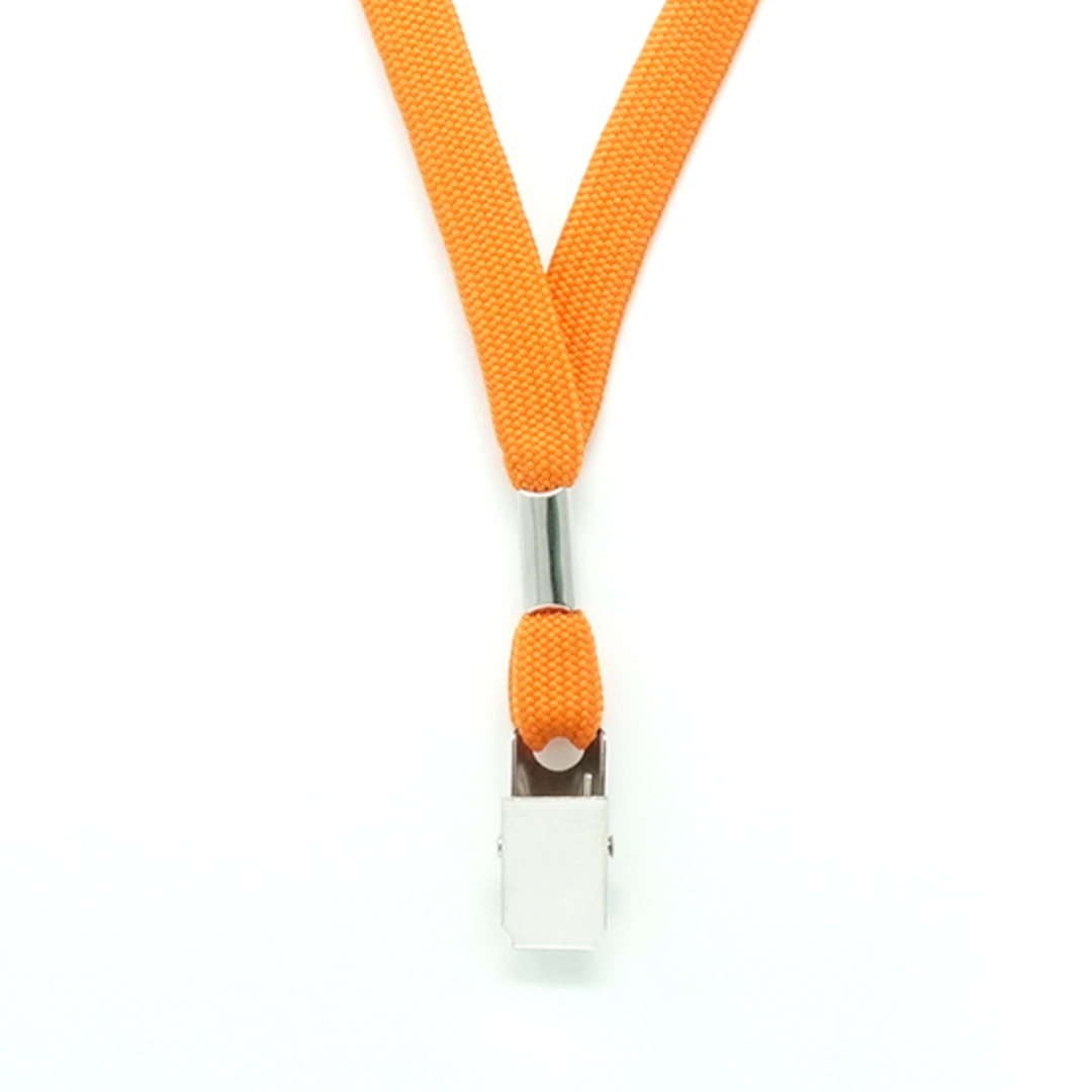 Orange Tube Lan with Bulldog Clip - 12mm wide image 1
