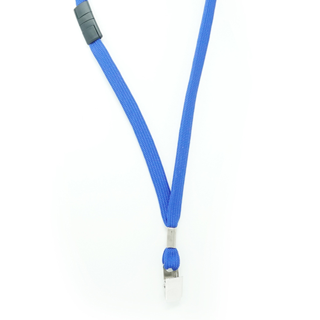 Royal Blue Tube Lan with BRKWY Bulldog Clip - 12mm wide image 1