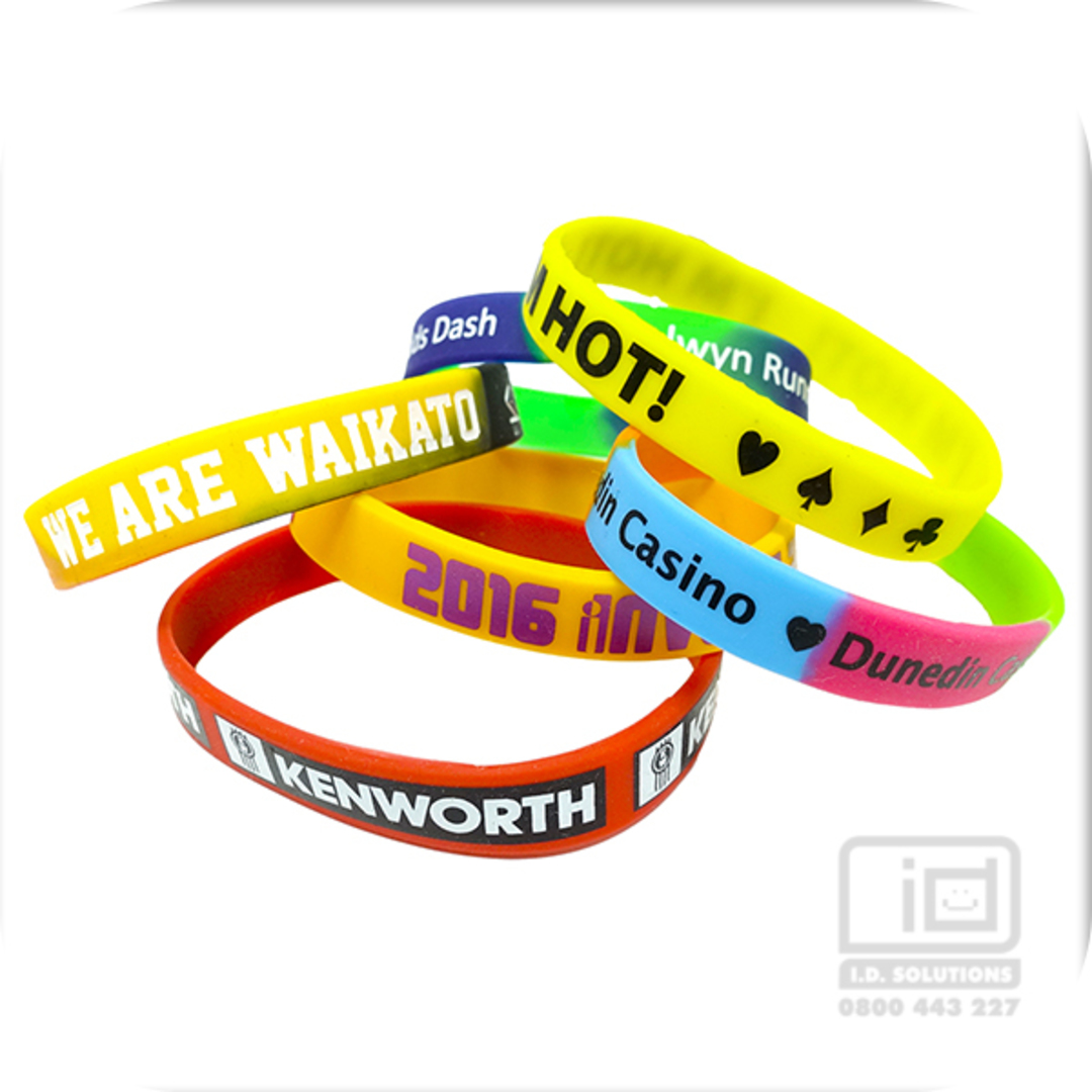 Embossed Silicone Wristbands image 0