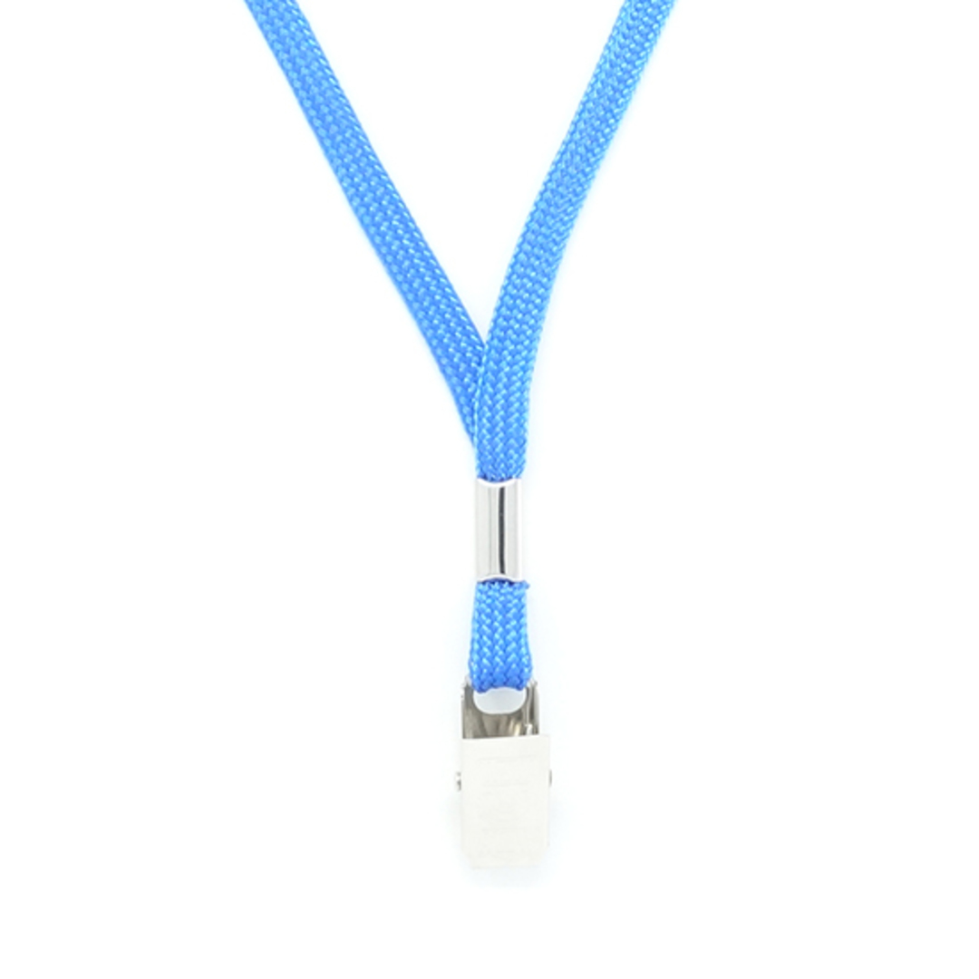 Royal Blue Tube Lan with Bulldog Clip - 8mm wide image 1