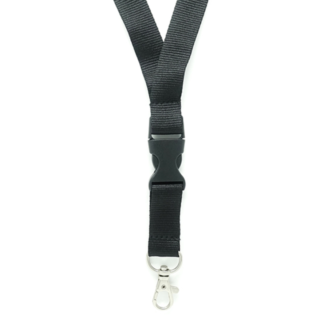 Black Flat Lan with Quick Release Buckle C-Hook - 20mm wide image 1