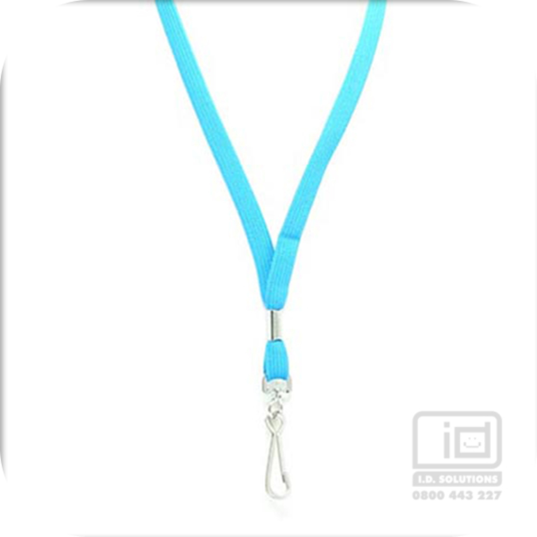 Mid Blue Tube Lan with Swivel Hook - 12mm wide image 0