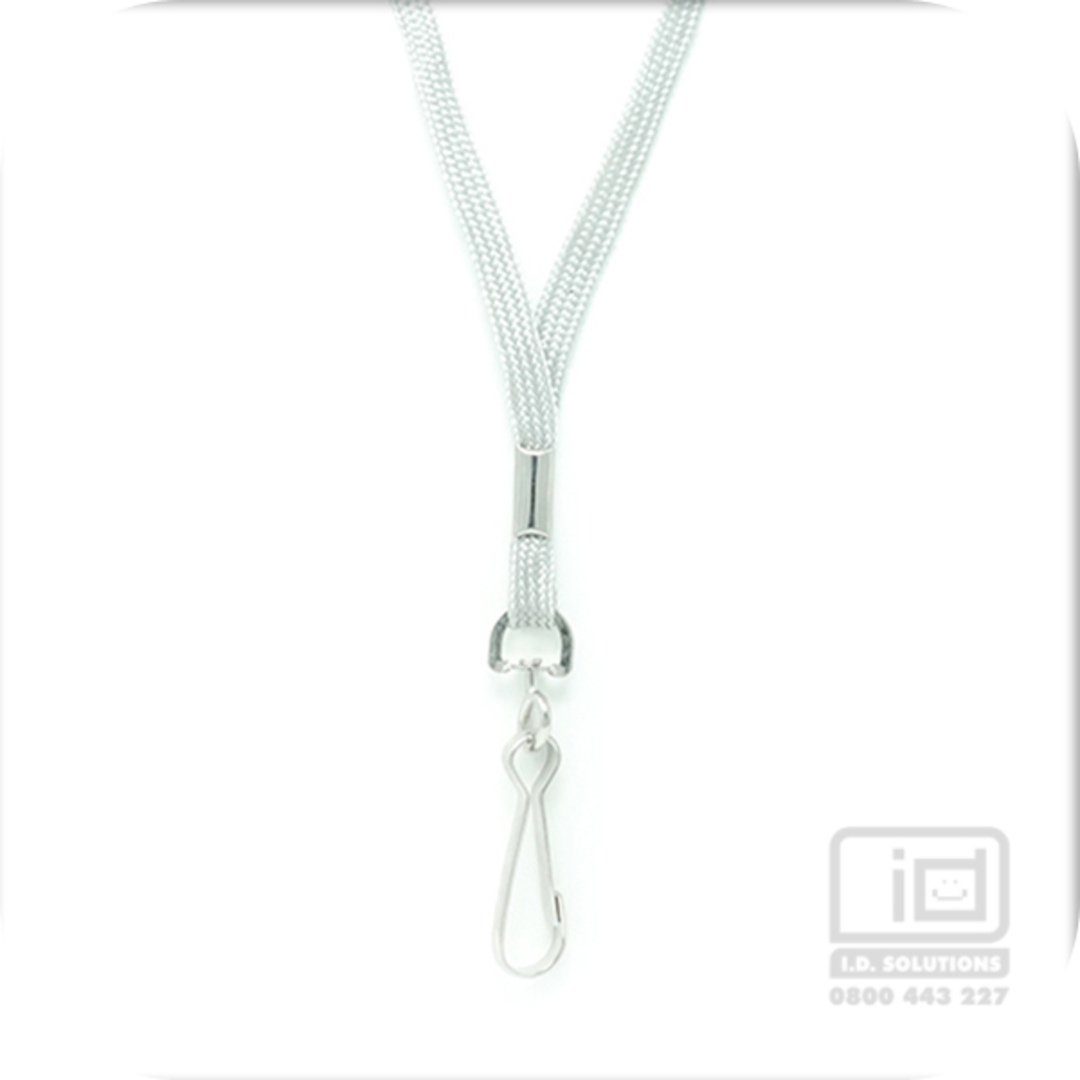Grey Tube Lan with Swivel Hook - 8mm wide image 0