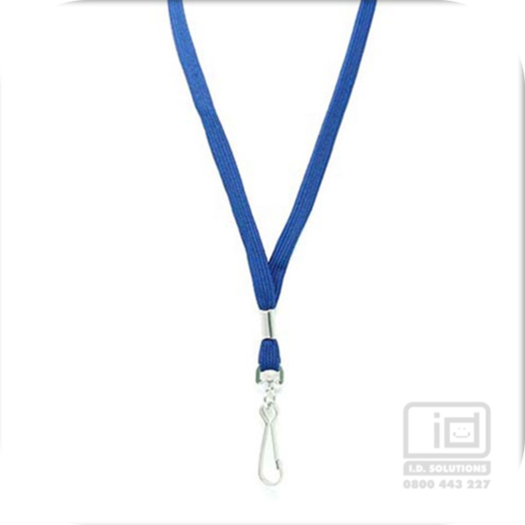 Navy Blue Tube Lan with Swivel Hook - 12mm wide image 0