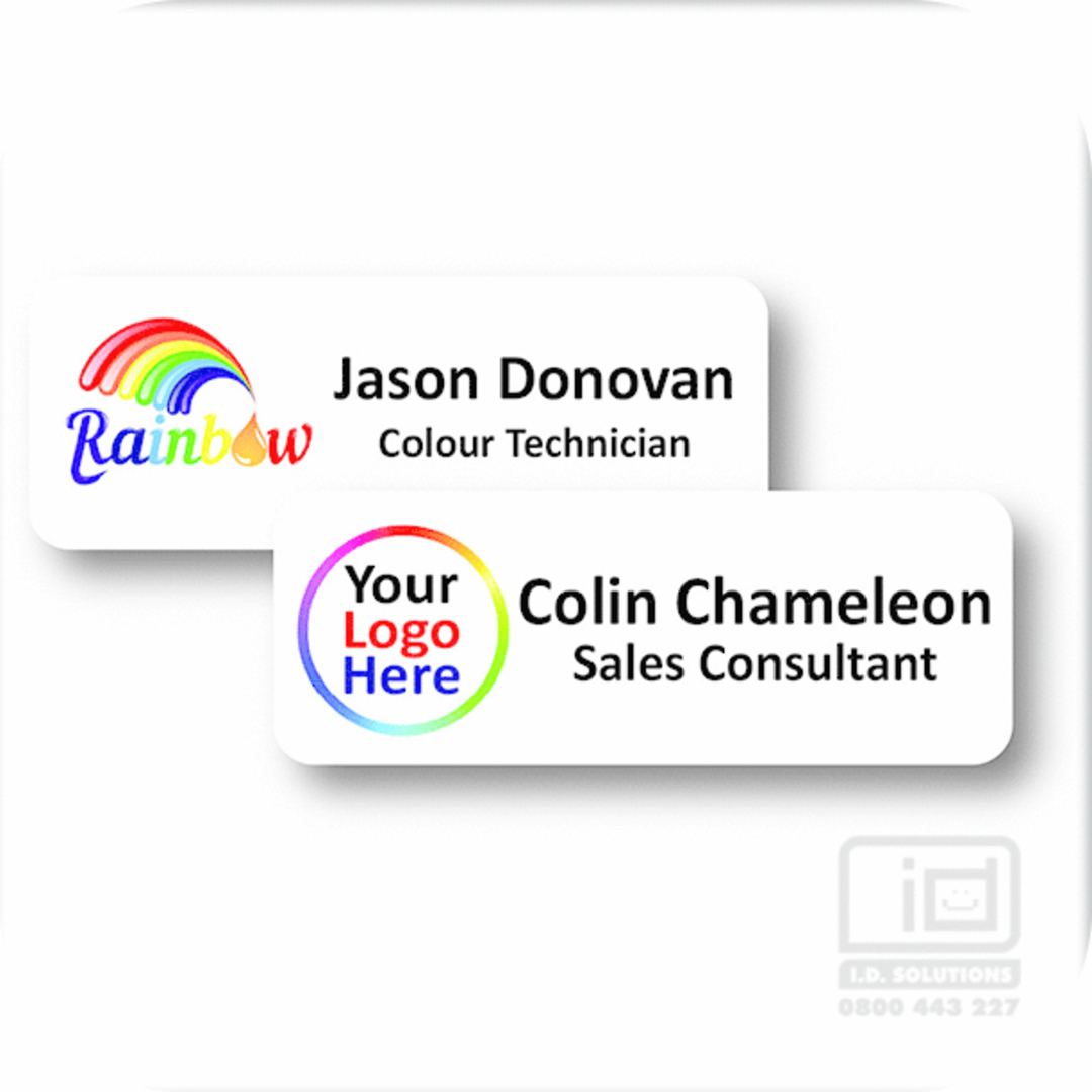 PVC Name Badge with Pin Clip image 0