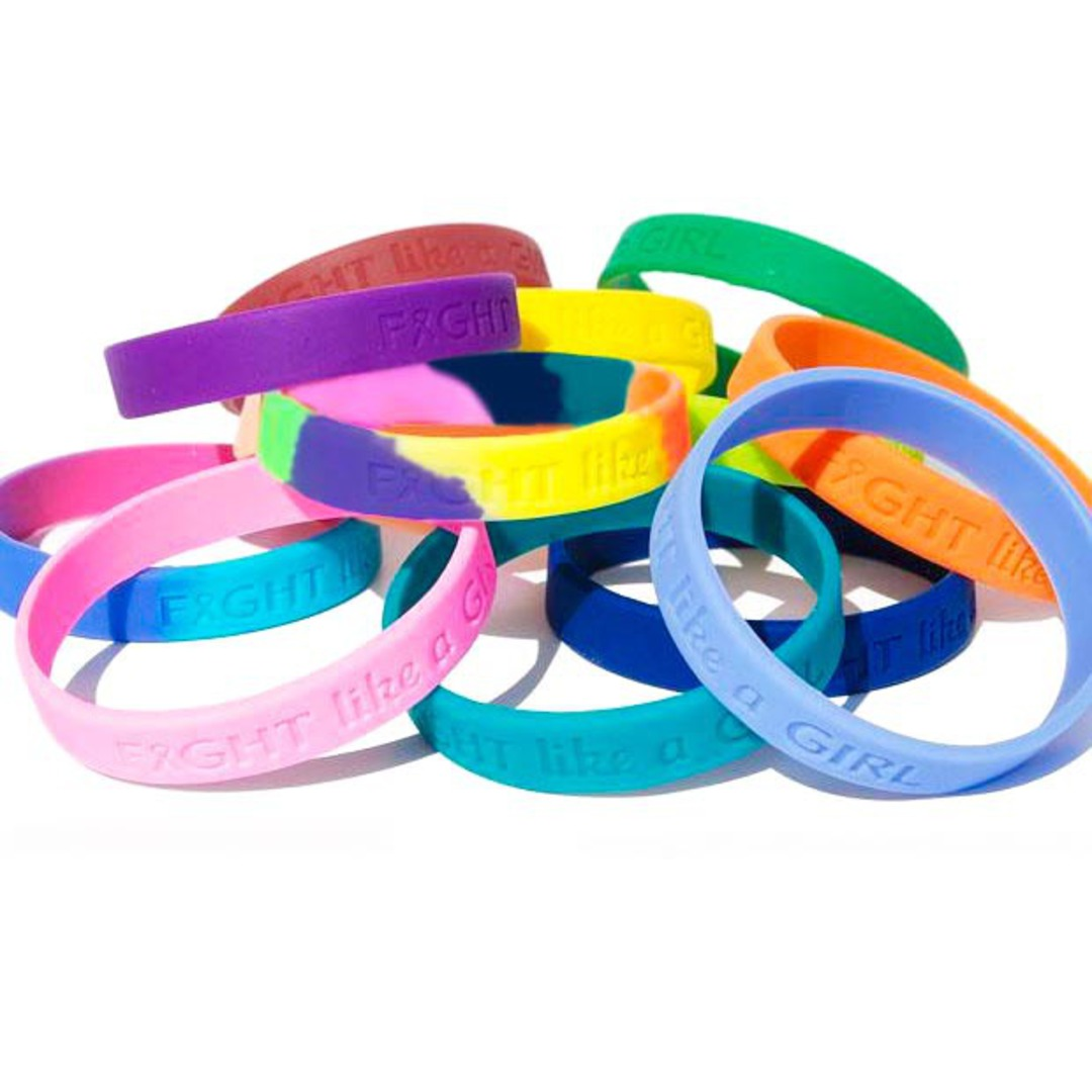 Embossed Silicone Wristbands image 1