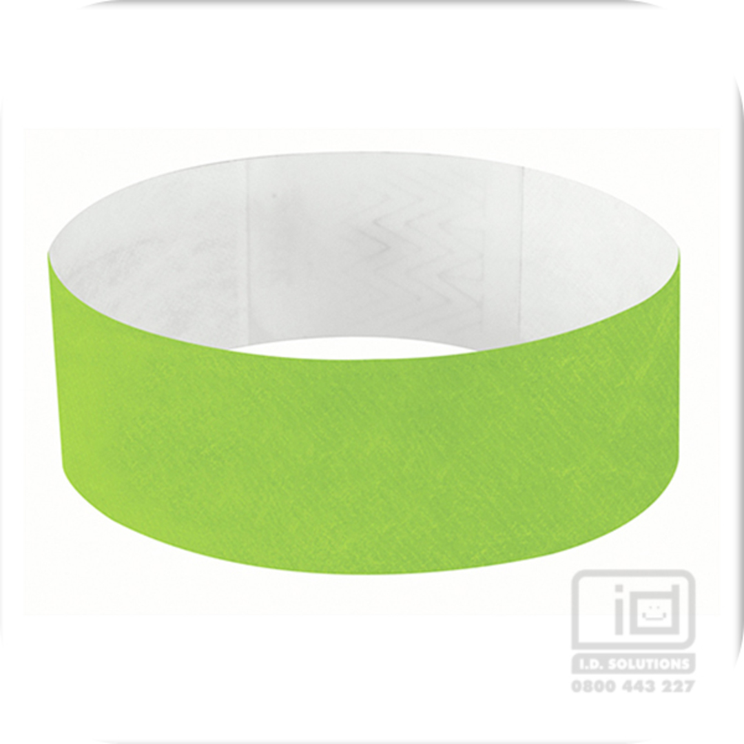25mm Tyvek Wristband Neon Lime image 0