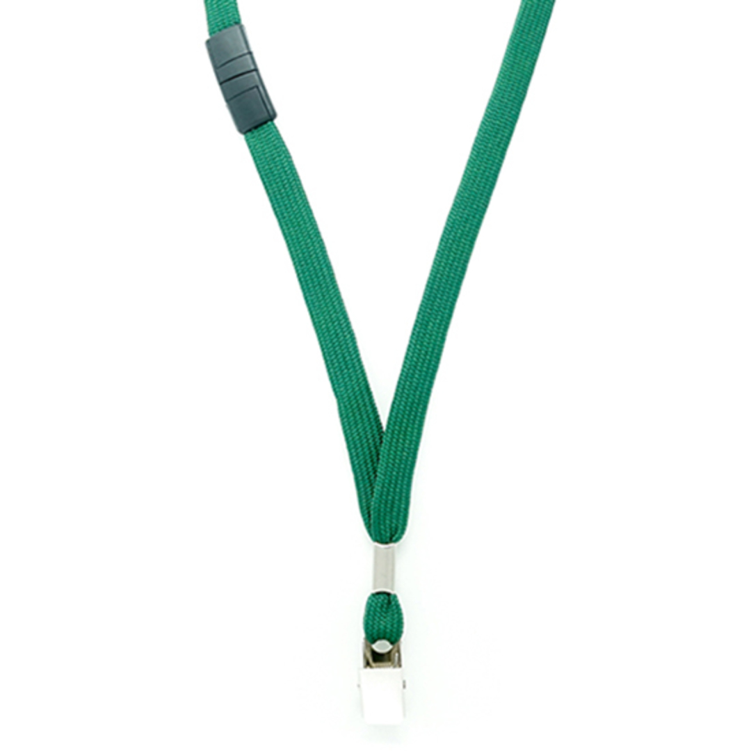 Green Tube Lan with BRKWY Bulldog Clip - 12mm wide image 1