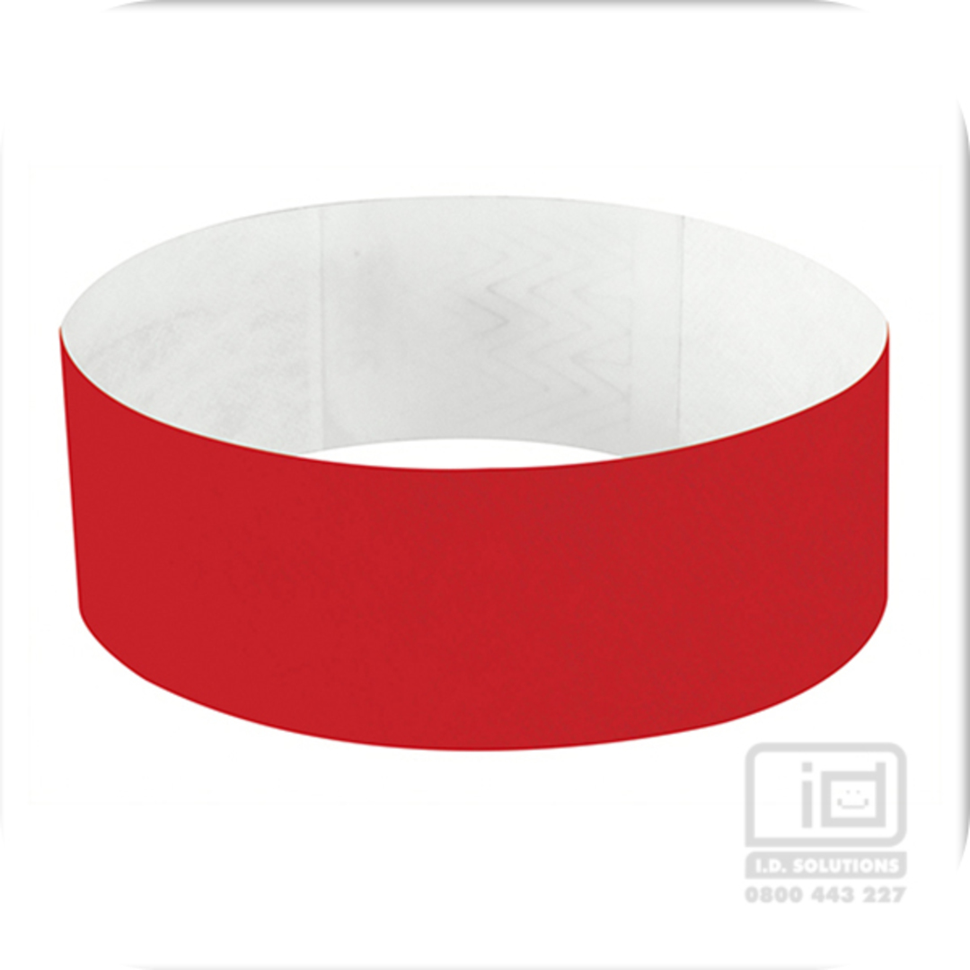 25mm Tyvek Wristband Red image 0