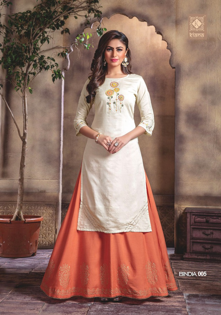 Kurti with Plazzo/Skirt image 5