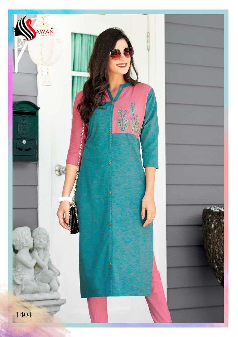 Rayon Print Long Formal Wear Kurti image 4