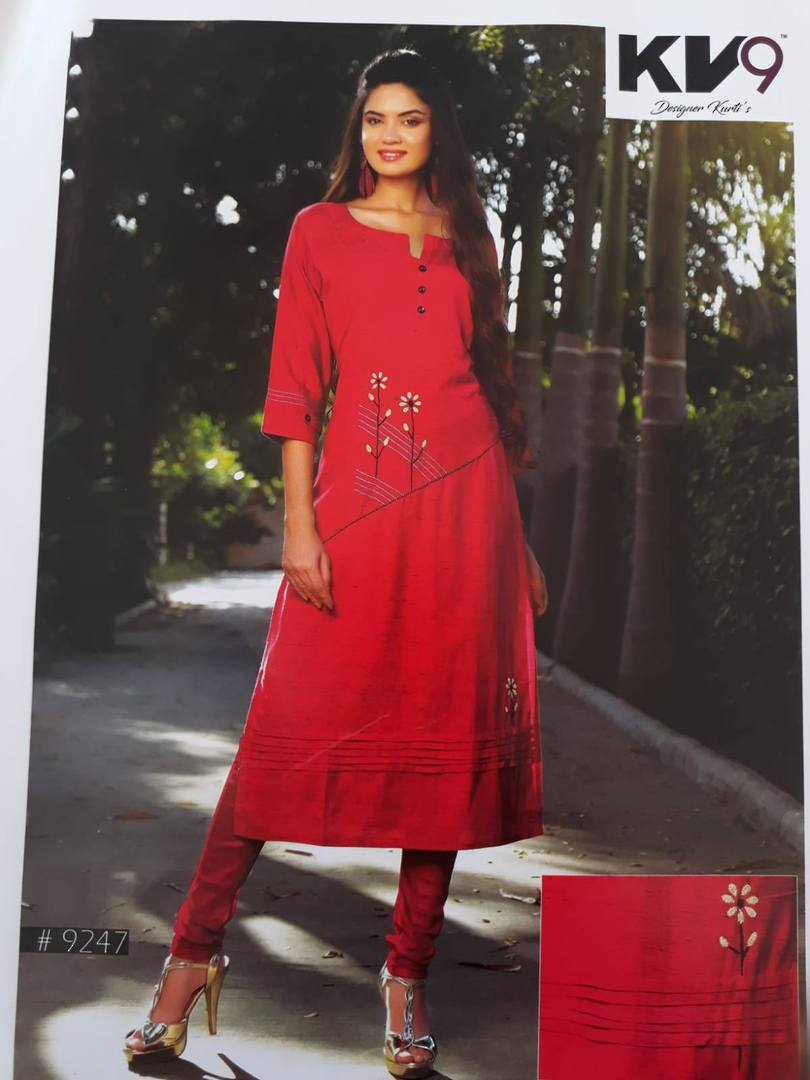 Ladies 3/4 Sleeve Rayon Kurti image 4