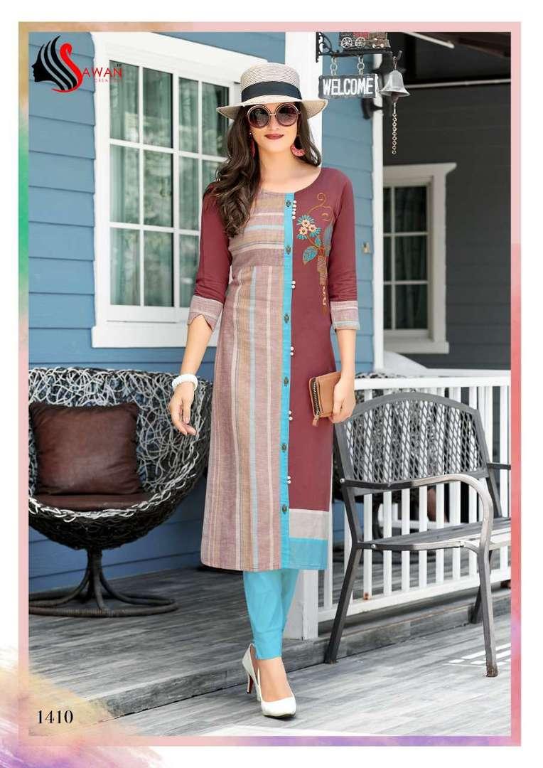 Rayon Print Long Formal Wear Kurti image 10