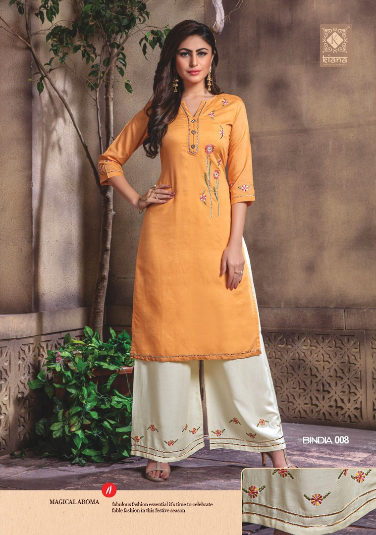 Kurti with Plazzo/Skirt image 8