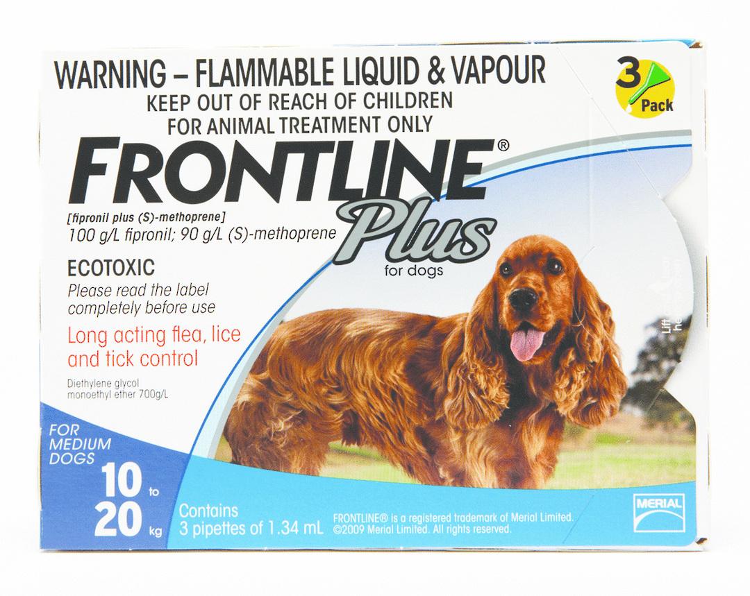 Frontline Spot-on Flea Treatment for Medium Dogs (Blue / 1.34ml x 3) image 0