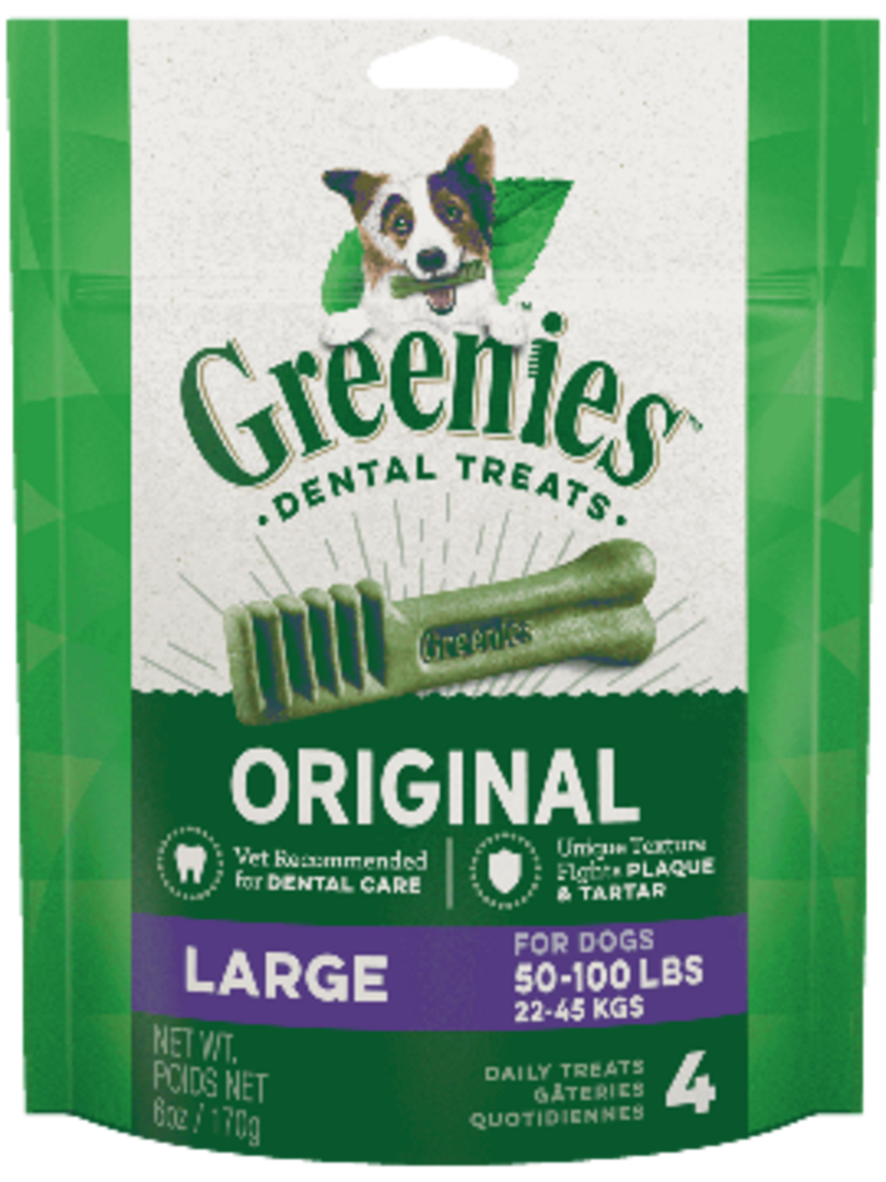 Canine Greenies™  Original Large Dental Treats 170g / 4 Dental Chews image 0