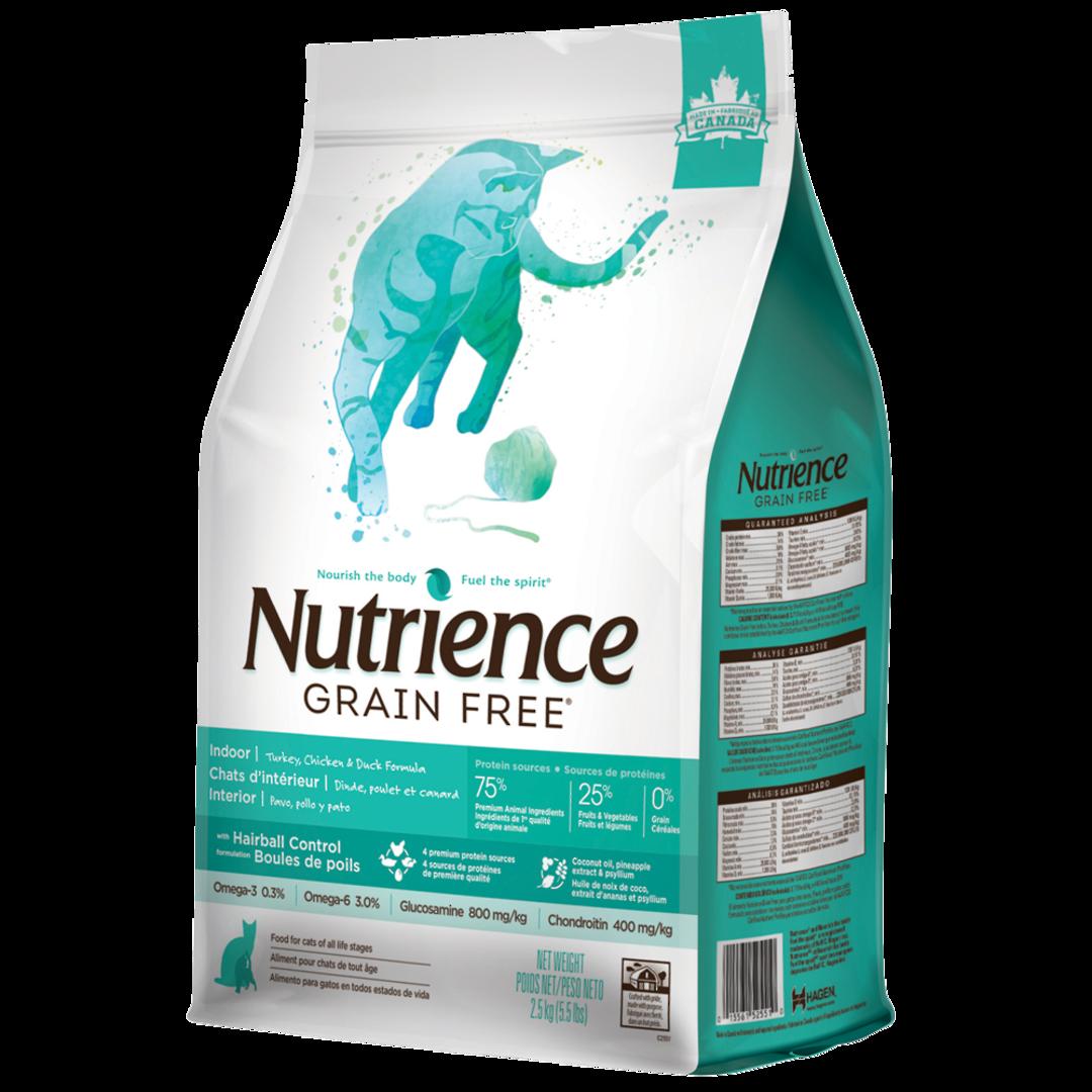 Nutrience Grain Free Turkey Chicken & Duck - Indoor / Less Active / Hairball - Cat 2.5kg image 0