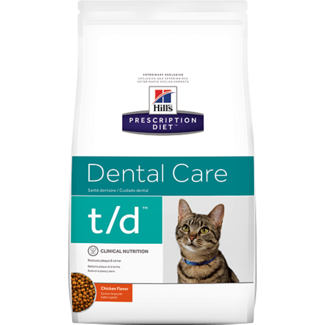Hill's Prescription Diet Feline Dental Care t/d for Cats 3kg image 0