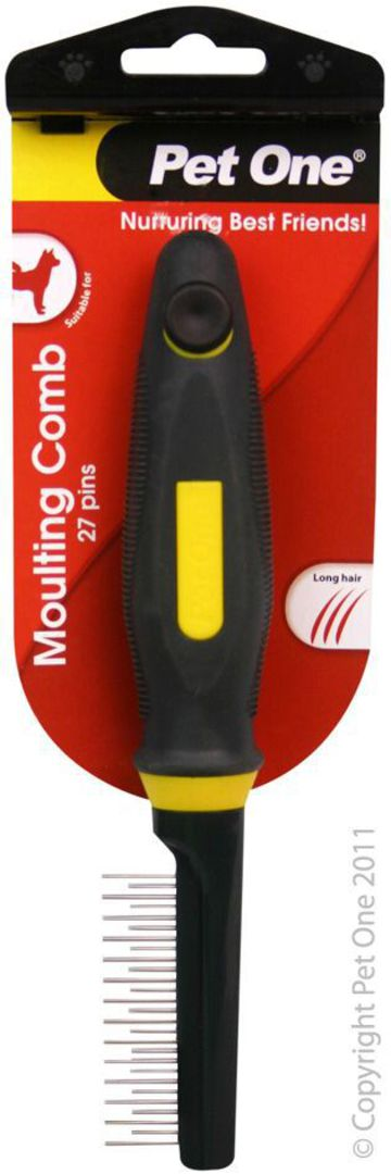 Pet One Moulting Comb 27 Pins image 0
