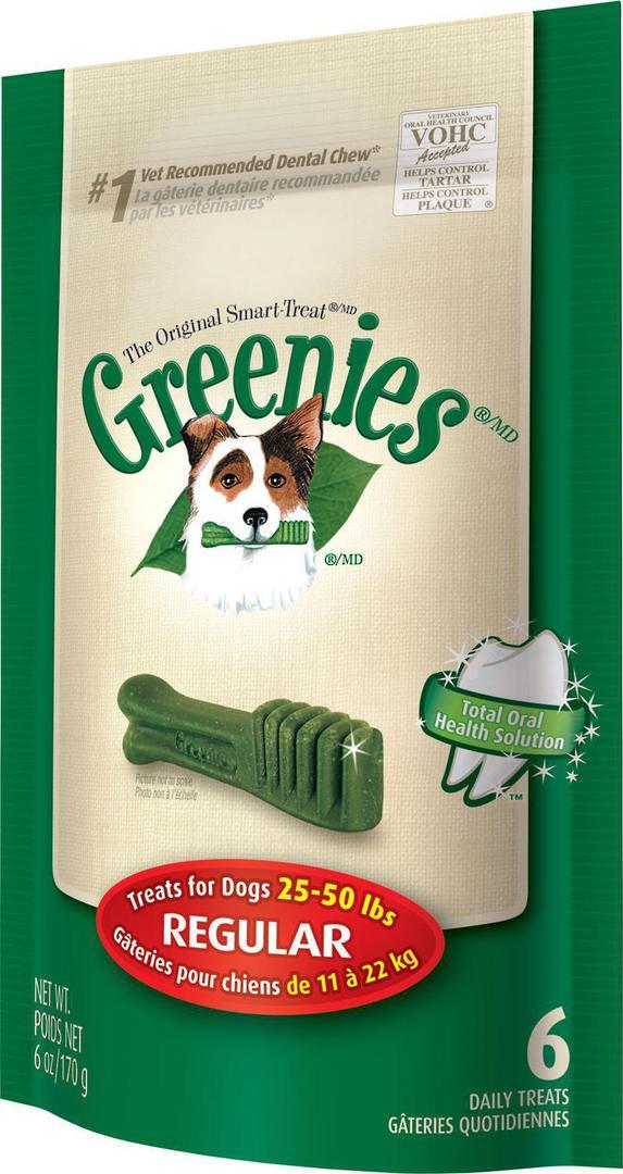 Greenies Canine Mini Treats for Regular Dogs 170g / 6 Dental Chews image 0
