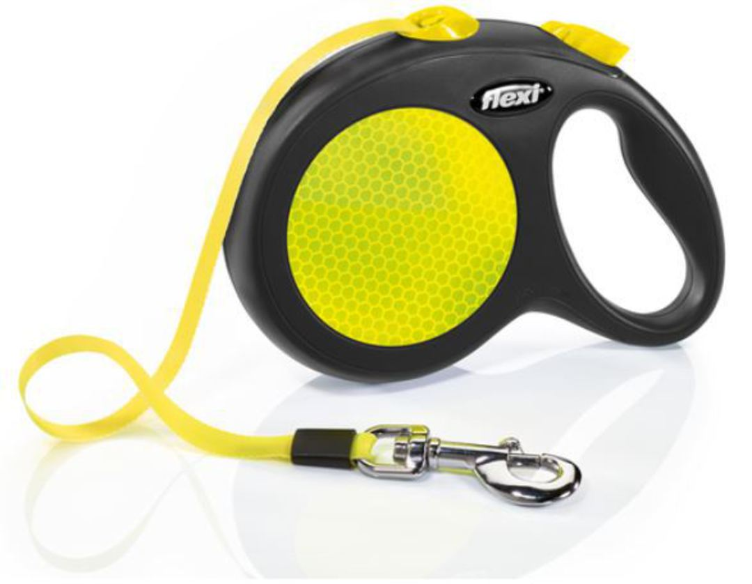 Flexi New Classic Neon Tape Retractable Leash 5m (M-L) Dogs uo to max 50kg image 0