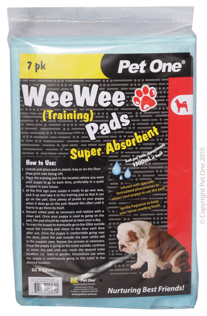 Pet One Wee Wee Training Pads 7pk image 0