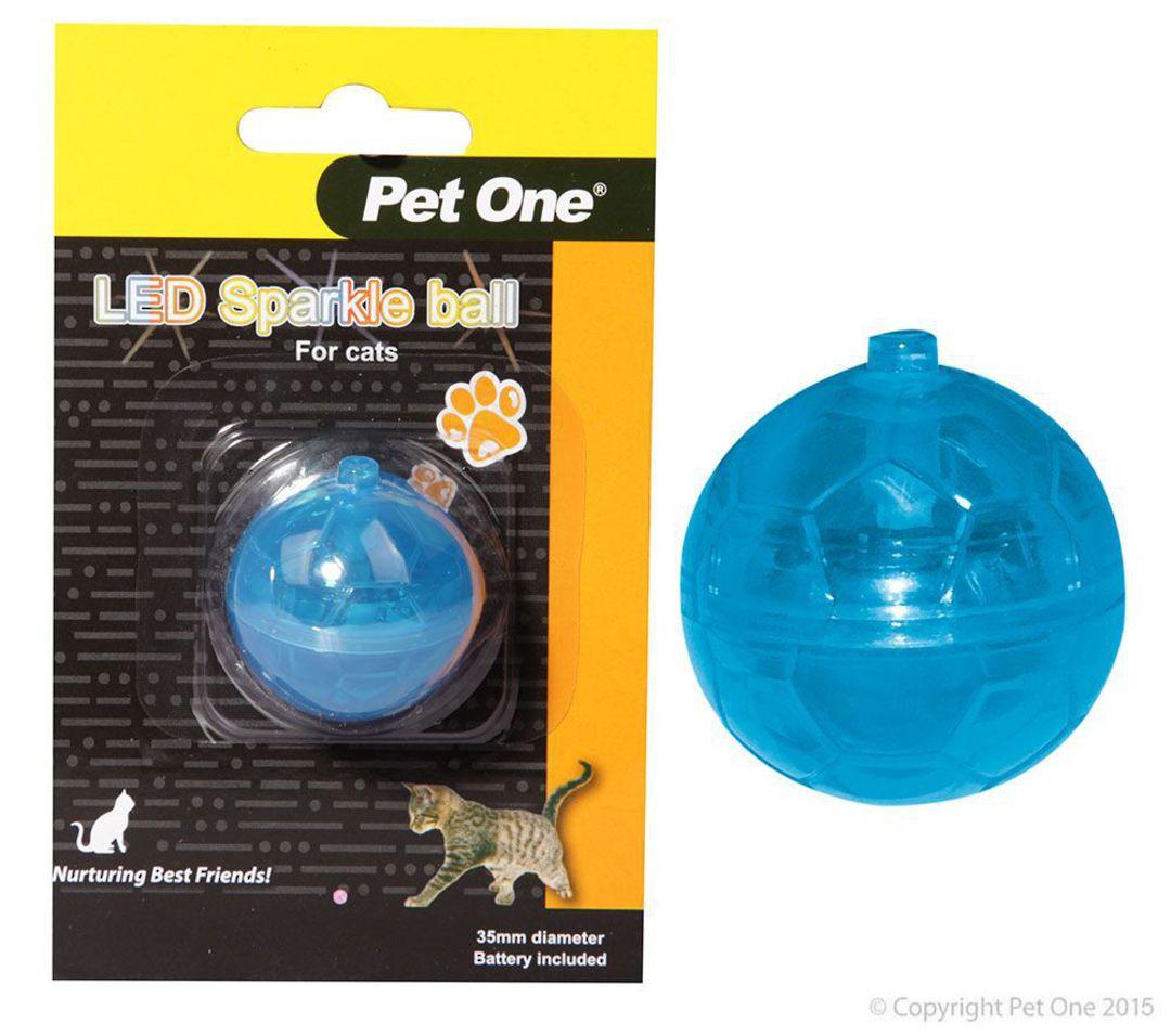 Pet One Cat Toy LED Sparkle ball image 0