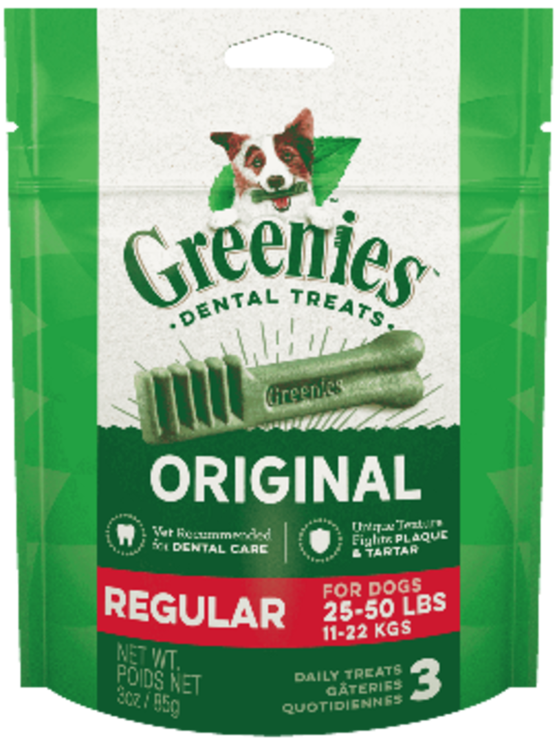 Canine Greenies™  Original Regular Dental Treats 170g / 6 Dental Chews image 0