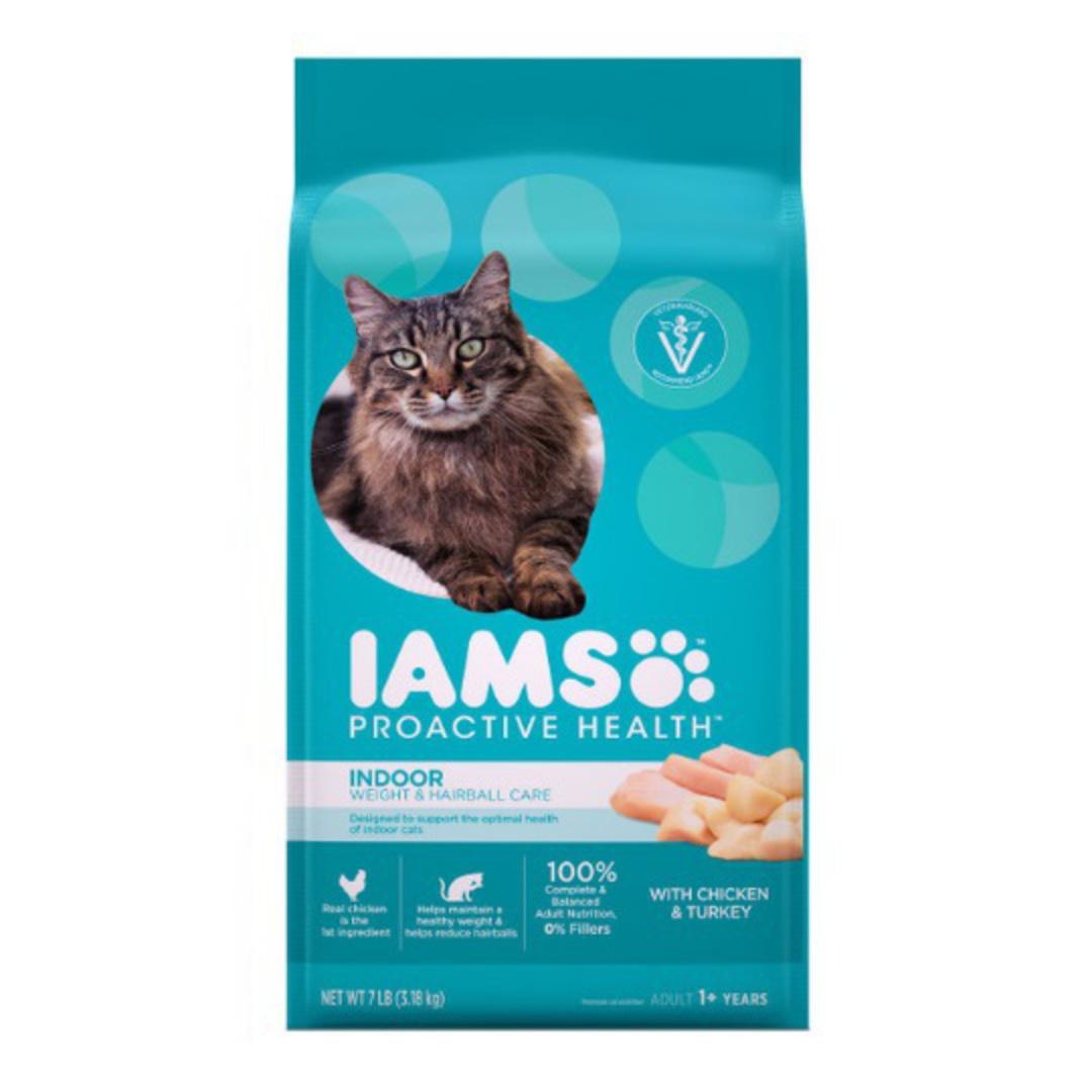 IAMS Cat Indoor Weight & Hairball Care Chicken & Turkey 3.18kg image 0