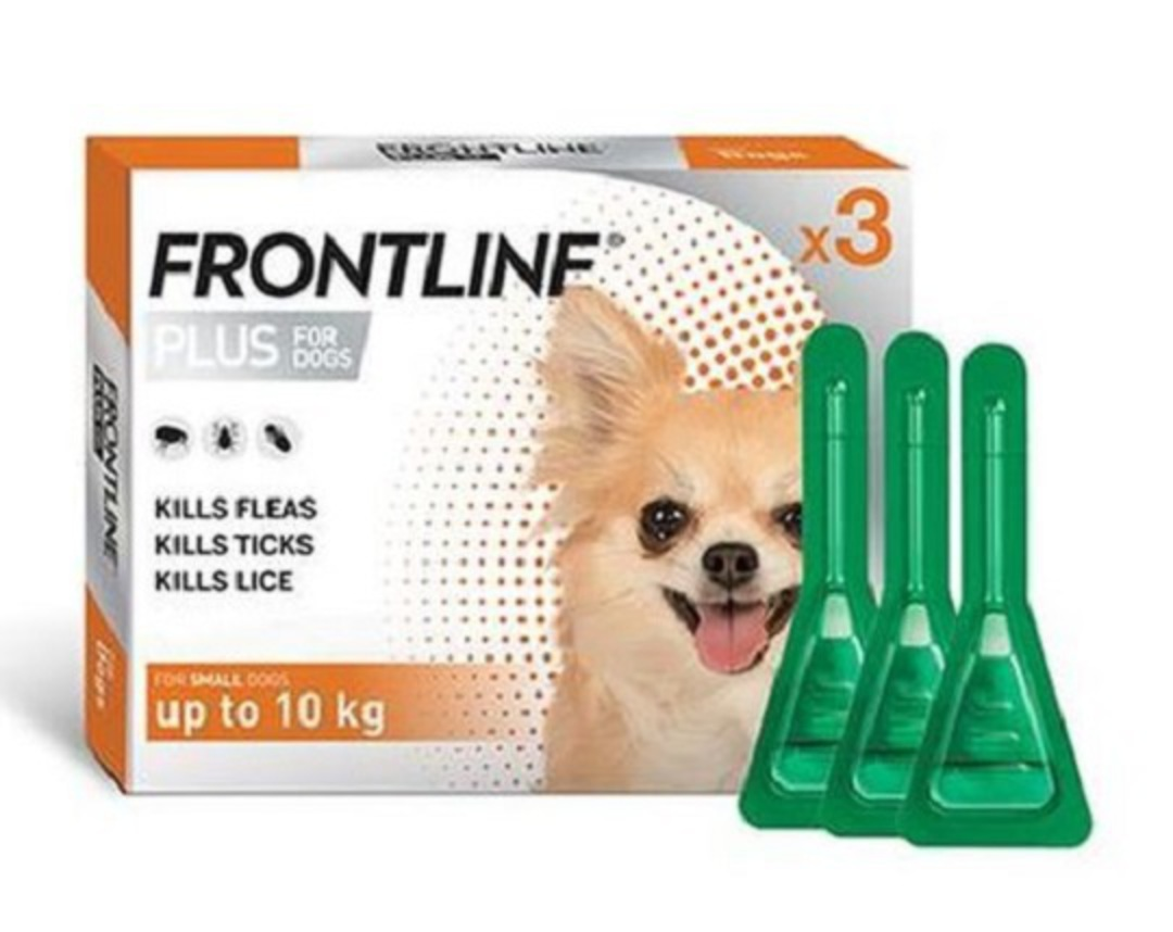 Frontline Plus Spot-on Flea Treatment for Small Dogs up to 10kg (Orange / 0.67ml x 3) image 0