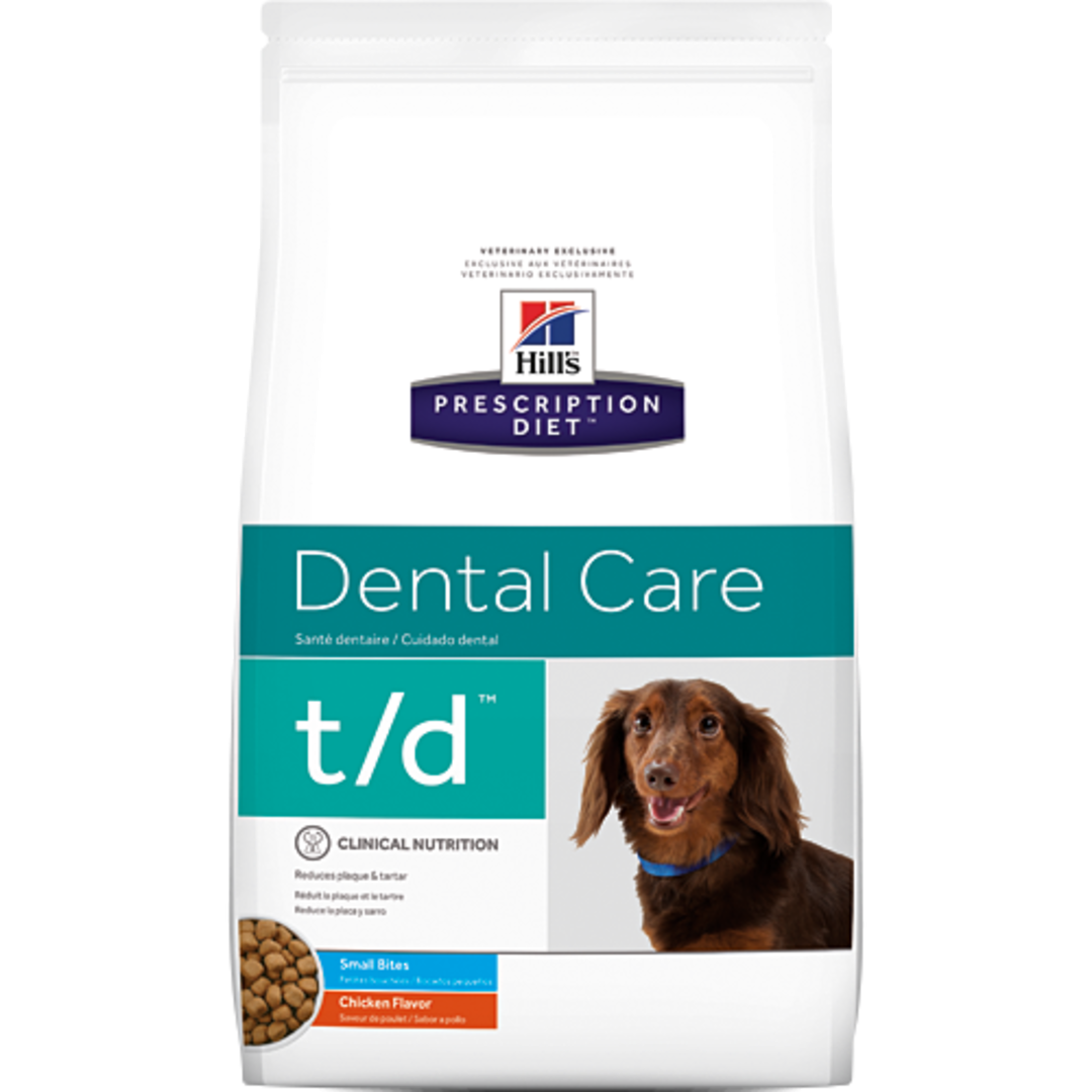 Hill's Prescription Diet Canine Dental Care t/d Small Bite for Dogs 2.25Kg image 0
