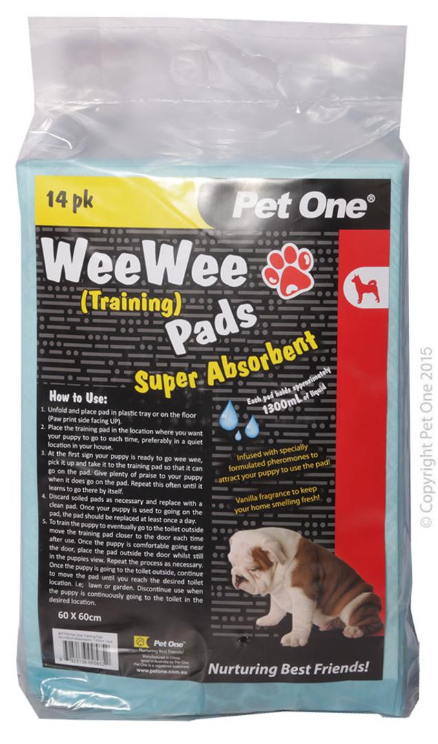 Pet One Wee Wee Training Pads 14pk image 0